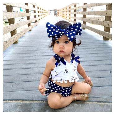 Toddler Infant Baby Girls Clothes  3pcs Outfits Set.