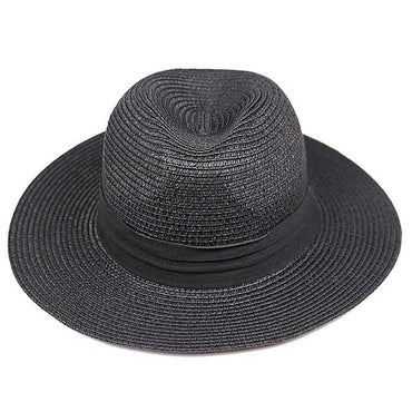 wide brim women's strawhat women's jazz fedoras ha
