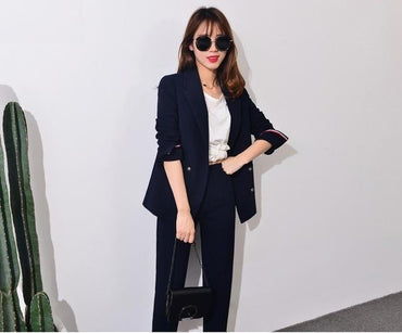 New Formal Suits Women Casual Office Business Suitspants Work Wear Sets.