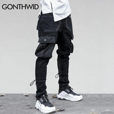 GONTHWID Side Pockets Harem Pants.