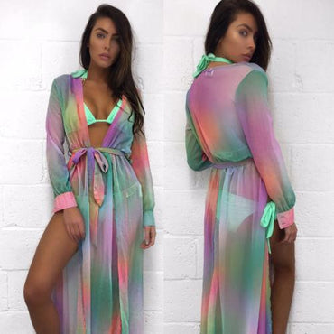 New Arrivals Beach Cover up Rayon Print Swimwear.