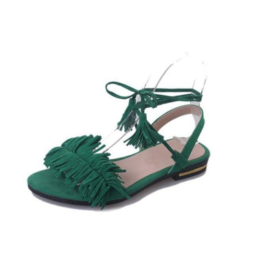 New Summer Fashion Tassel Straps Flat Sandals For Women.