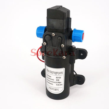 DC 12V/24V 80W Micro Diaphragm Water Pump Self-priming Booster Pump Automatic Switch 330L/H For Home garden