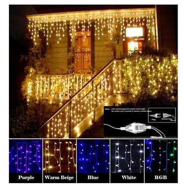LED Curtain Icicle String Light 220V 4.5m 100Leds Indoor Drop LED Party Garden Stage Outdoor Decorative Light