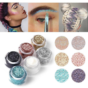 Makeup Set 6 Colors Body Glitter Paste Shimmer Powder