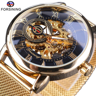 Luxury Mechanical 3D Logo Engraving Men Watches