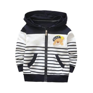 Baby clothes boys girls hoodie cotton stripe casual sweatshirt .