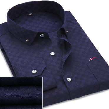Dudalina Men Shirts Cotton Fashion Long Sleeve Casual Shirt.