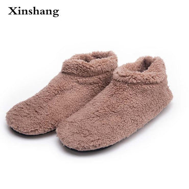 Winter Big Size Men Warm Soft Bottom Solid Color Slippers