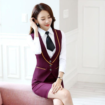 Ladies Office Formal Blazers Autumn Winter Skirt Suits.