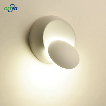 LED Wall Lamp  360 degree rotation adjustable bedside light 4000K Black creative wall lamp Black  modern aisle round lamp
