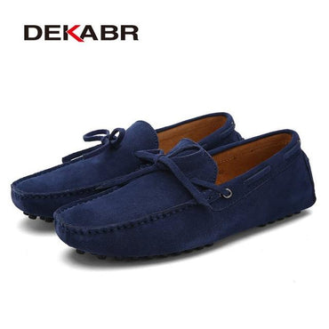 New Brand Big Size Cow Suede Leather Men Flats Casual Shoes.