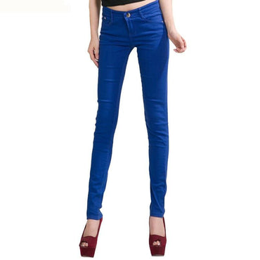 Slim Fit Woman Full Length Candy Color eans .