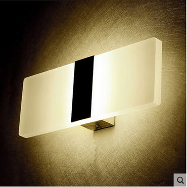 Mini 3W/6W Led Acrylic Wall Lamp AC85-265V 14CM/22CM Long warm white Bedding Room, Living Room, Indoor wall lamp