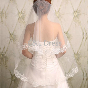 Wedding Gauze Sequins Lace White Dress Wedding Accessories.