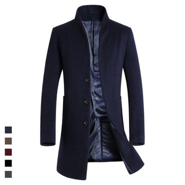 HAMPSON LANQE 2018 High Quality Classical Long Mens Wearing for Autumn Wool & Blends