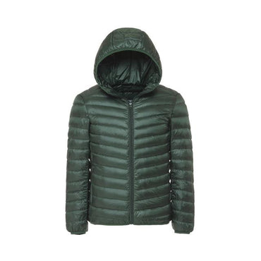 Men's Winter 90% White Duck Ultra Light Down Jacket Men Fashion Hooded Loose Coat 6 Color Casual Parka Brand Clothing S-3XL