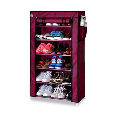 Seven Layers Six Grid Thick Non-woven Simple Shoe Cabinet Dustproof Creative DIY Assembly Storage Shoe Rack Shoe Organizer Shelf