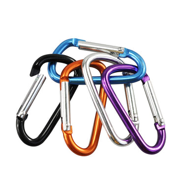 Outdoor Sports Multi Colors Aluminium Alloy Safety Buckle Keychain Climbing.