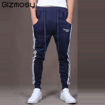 Men Pants Good Quality Cotton Joggers Casual Harem Pants.