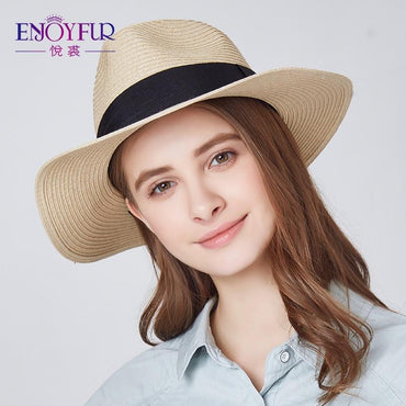ENJOYFUR Women Summer sun hat