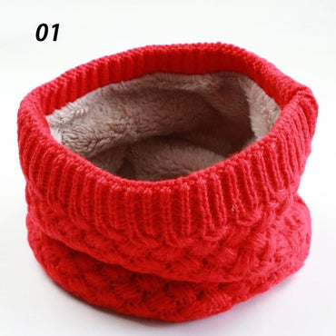 Unisex Winter Warm Knitted Ring Scarves