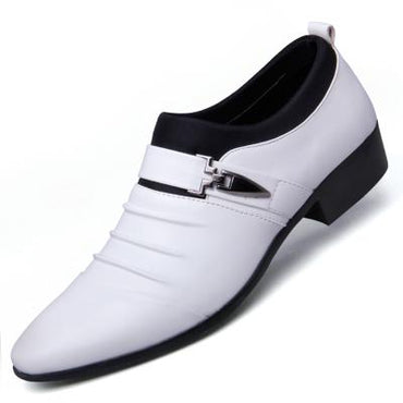 pointed toe wedding oxford dress shoes for men