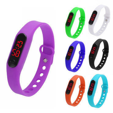 Casual Rubber LED Spo Women Bracelet Watches