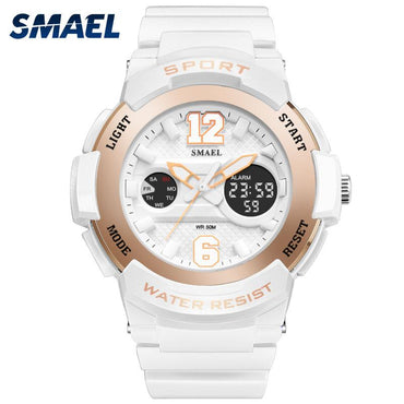 LED Waterproof Rose Gold Ladies Watch