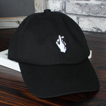 Love Gestures Finger Embroidery Golf Baseball Cap .