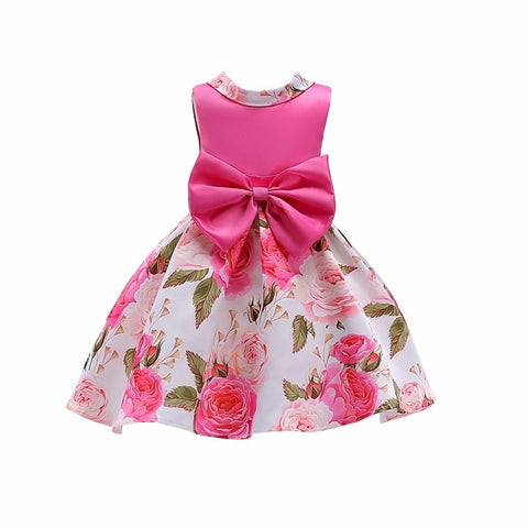 Baby Girls Striped Dress For Girls Formal Wedding Party Dresses.