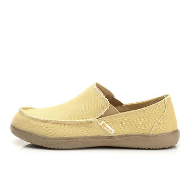 Canvas Breathable Casual Men Loafers Soft Comfortable Shoes.