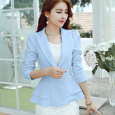 New Fashion Single Button Blazer Women Suit.