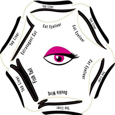Stencils Eyeliner Template Smoky Makeup Sets