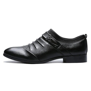Pointy Black Shoes Oxford Breathable Formal Wedding Shoes