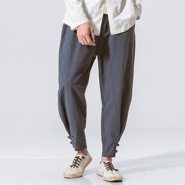 INCERUN Autumn New Harem Linen Pants.