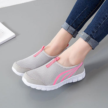 hot light breathable mesh summer casual women shoes.
