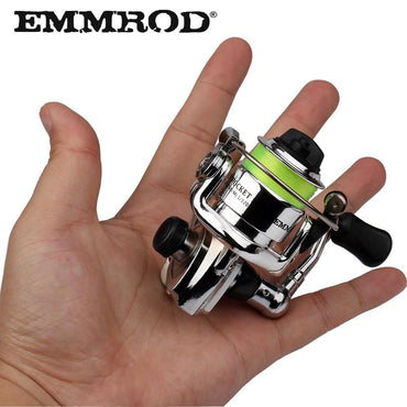 Mini100 Pocket Spinning Fishing Reel Alloy Fishing Tackle Small Spinning Reel 4.3:1 Metal wheel pesca Small Reel
