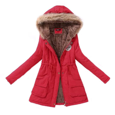 Women Parka Fashion Autumn Winter Warm Jackets.