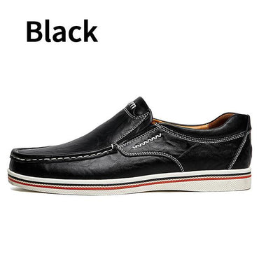 Hot Sell British Style Boat Minimalist Design Leather Men Shoes