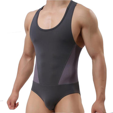 KWAN.Z bodysuit men Ice corset High elasticity One-piece clothing shapers.
