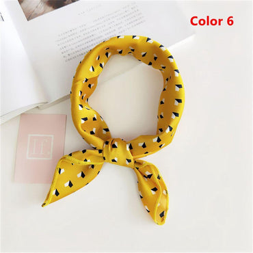 Summer Women Yellow Elegant Small Vintage Square