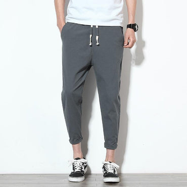 Legible Men's Trousers Ankle-length hombres pantalones Mens Harem Pant.
