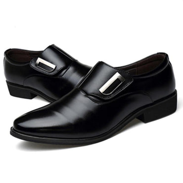 Hot Sales New Brand PU Leather Fashion Men Business Dress Shoes