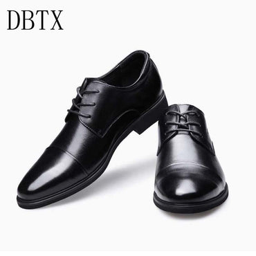 New Men Dress casual Gentlemen Split Leather Formal Shoes