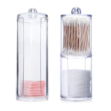 Acrylic Multifunctional Round Qtip Container