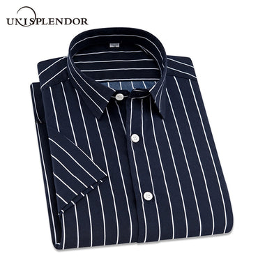 2018 Summer Branded Men Casual Shirts New Turn Down Collar Mans Short Sleeve Shirt.