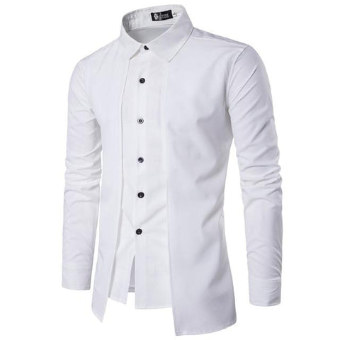 Fashion UK design M-2XL men's shirts full sleeve pure color casual shirts.