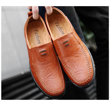 Big Size New Arrival Split Leather Men Fashion  Casual Shoes Loafers.