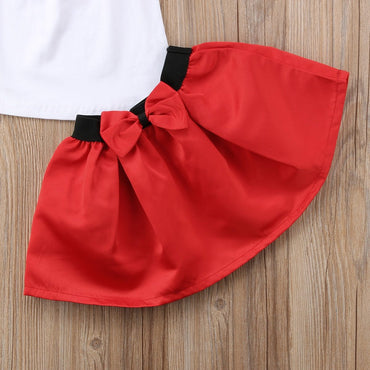 Summer Girls Clothes 2018 New Casual Children Clothing Sets Short SleeveShirts Skirt Kids Suit for Girls 2 3 4 5 6 7  Years